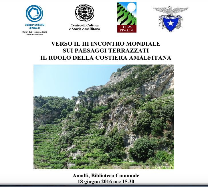Incontro ad Amalfi, 18 giugno 2016